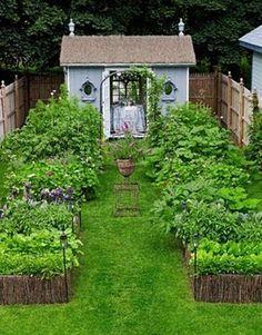 Cottage and herb garden.