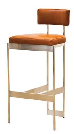 Alto Bar Stool. Cornersteel. Make in fabric with the option to easily change fabric. Maybe add Velcro on the bottom?