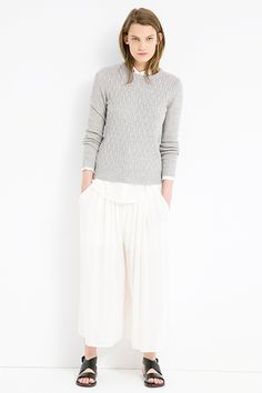 Mango Lightweight Culottes, $59.99, available at Mango.  I don't think I could pull this off, but it looks so comfy and elegant on the model!