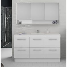Find Timberline Sanremo Shaving Cabinet at our bathroom Warehouse store in Osborne Park, Perth WA, a leading supplier of bathroom products Bathroom Warehouse, Shaving Cabinet, Plumbing Fixtures, Double Vanity, Bathrooms, Shelves, Shelving, Bathroom Fixtures, Bathroom