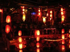 Lijiang - Its funny it's lanterns I remember more than any other thing. Man did my heart break when I got on the bus for Dali!