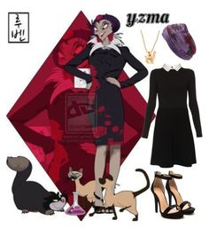 """Yzma - Disney University"" by aquatic-angel ❤ liked on Polyvore featuring Disney, Paule Ka, Goat, L. Erickson and Madewell"