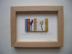 Items similar to Fragments Unique miniature hand woven tapestry by Fiona Rutherford on Etsy Textile Tapestry, Small Tapestry, Tapestry Weaving, Textile Art, Small Words, Woven Wall Hanging, Rug Ideas, Craft Ideas, Wall Art Decor