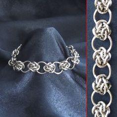 Bracelet - Steel #Cloud Cover# Circles - Celtic Knots - Chainmaille