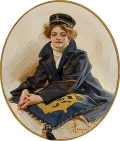 Sailor Girl: a large-sized painting -- J.C. LEYENDECKER