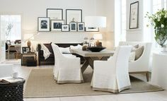 .nice mix of white brown and beige...love the walls