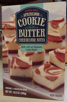 Trader Joe's Speculoos Cookie Butter Cheesecake Bites!!!