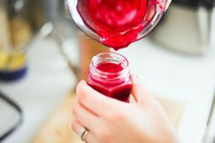 DIY lip and cheek stain. Key ingredient: beets!