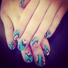 Ikat nail art #Summer2013
