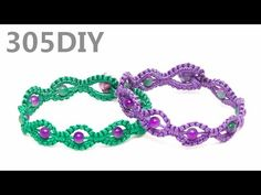 [305DIY]레이스매듭 8자모양 구슬팔찌만들기,friendship lace figure-eight knot bead bracel...