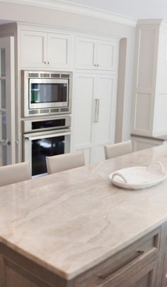 Taj Mahal Quartzite. Quartzite Kitchen Countertop. Kitchen with quartz…