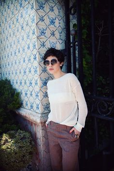 {shaggy short 'do} love the relaxed vibe of this entire look.