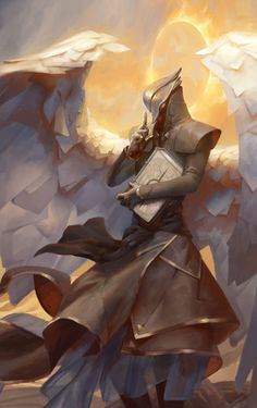 ANGELS RAZIEL, ANGEL OF MYSTERIES art by Peter Mohrbacher