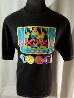 Coogi Colorful #Gamer XXL Shirt #Playin For Keeps Neon Colors Black 2XL #COOGI #EmbellishedTee #fashion #style #glo