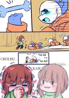 Read So cute! from the story Undertale Comic (Vietnamese Translate) [Quyển by DoriDoki (Khảm Khảm) with reads. Sans - Chara - F. Frans Undertale, Undertale Comic Funny, Undertale Pictures, Anime Undertale, Undertale Memes, Undertale Ships, Undertale Drawings, Undertale Cute, Cute Comics