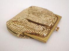 Vintage Whiting Davis Gold Mesh Purse Bag by GallivantsVintage, $40.00