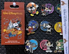 World's Biggest Mouse Party Mystery Pin Collection: This is the Mickey Mouse 90th anniversary mystery pin collection at Walt Disney World! Each box contains two randomly selected pins. There are 9 pins in total for this set. It is a limited release and the retail price is $19.99 per box. Available at WDW on January 7, 2019.