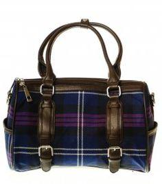 Ladies Wool Tartan Handbag, Double Buckle, Heritage of Scotland