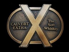 ND19165 *NOS* REALLY NICE **CALVERT EXTRA THE SOFT WHISKEY** BOOZE BELT BUCKLE #UNKNOWN #Classic