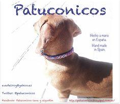 Collar Patuconico Perro pequeño, Hecho a mano hand made.