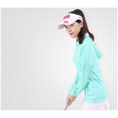 2017 New Women's Golf Summer Clothing MS UV Sunscreen Jacket Hooded Ice Silks Free Shipping