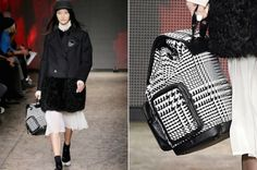 A houndstooth backpack (like this one by DKNY) is tote-ally the It bag for the downtown hipster set. #NYFW