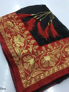 Diya Zoya Silk Embroidered Saree, Such Saris women use to wear on Casual Wear, Party Wear at Online Lowest Wholesale Price Shipping Worldwide Embroidery Saree, Lace Border, Embroidered Silk, Party Wear, Casual Wear, Sari, Stitch, Clothes For Women, Blouse