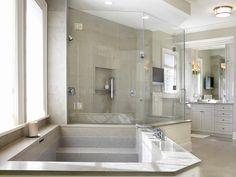 Master Bath with Custom Stone tub