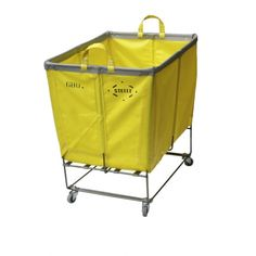 PERFECT!  Yellow laundry basket on casters!  I want this!