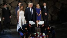Kritik an Donald Trump nach Besuch in Holocaust-Gedenkstätte Yad Vashem - kurier.at