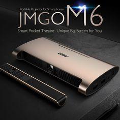 JMGO M6 Portable DLP Projector Sales Online golden - Tomtop Portable Projector, Tech Accessories, Smartphone