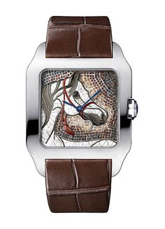 Cartier d'Arts: cheval en mosaïque de pierre. © Cartier