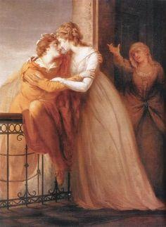 """Romeo and Juliet"" -- by John Francis Rigaud (British, 1742–1810) www.antichitalavagno.it"