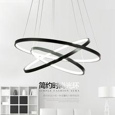 Moderne led pendentif lumières Cercle suspension luminaire salle à manger lampe 3 Anneau accrocher la lumière cuisine éclairage restaurants chambre lampes