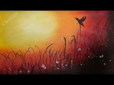 Sunset Bird, Easy lesson,Acrylic Painting for beginners,learn to paint…