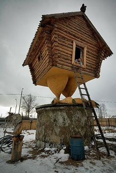 Chicken-legged house :-)  ~ it's just so corny I HAD to repin! :)