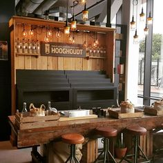 BedTalks Groningen @distilleerderij_hooghoudt bar is all set for tomorrow! Come meet us for a drink? #tshlife #bedtalks #groningenlife #festival #bar