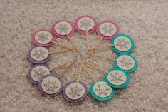 Frozen Birthday Party Snowflake Cupcake Toppers by GracesGardens, $9.50