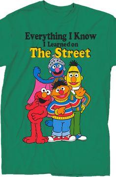 Learned on Sesame Street T-Shirt: 80s TV: Sesame Street Shirts