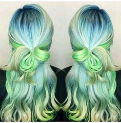 Beautiful pastel mermaid hair