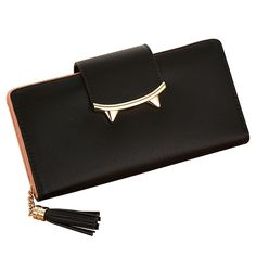 Women Purses Long Clutch Cat Parint Lady Wallets Moneybags Girls Coin Purse PU Leather Brand Design Tassels Handbags Burse Bags #Affiliate