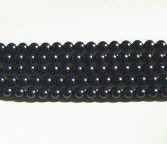 25 Swarovski Crystal Beads 4mm PEARL 5810 crystal beads NIGHT BLUE