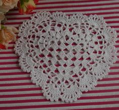 Heart Doily Crochet Online | Heart Shaped Crochet Doily for Sale
