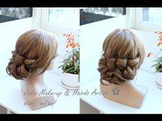 翩翩飛舞! 鑽鏈蝴蝶結四股編 盤髮教學 Four (4) Strand Braid Hairstyle - YouTube
