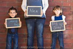 Family chalkboard maternity