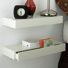 1000 images about nightstands on pinterest floating for Wall shelf nightstand