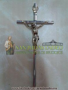 Cristo de Metal Plateado (16x8cm)