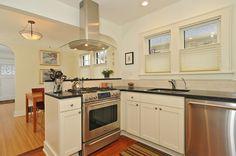 Kitchen Small Modern White Kitchen Ideas With Wooden Kitchen Cabinet Kitchen Island Backsplash Chandelier Laminate Flooring Appliances Stain...