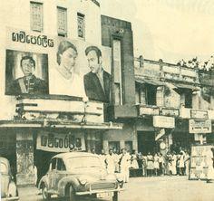 A Ceylonese theatre screening Lester James Peries' 'Gam Peraliya' – probably between 1963 – 1965 at QuinQuinlon Cinema - Nugegoda.