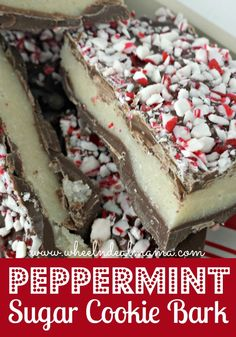 Peppermint Sugar Cookie Bark Recipe + Printable Gift Tags
